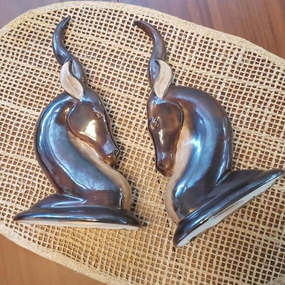 Awesome Vintage Ceramic Antelope Figurines